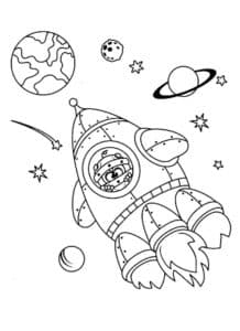 Смешарик в ракете