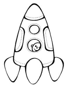 Ракета раскраска по точкам