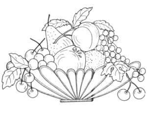 фрукты на миске