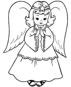 ангелочек детская раскраска