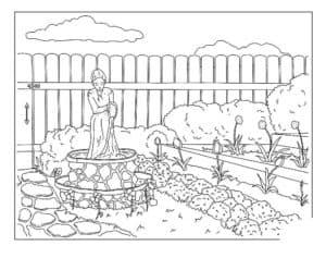 огород детская раскраска