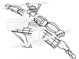 Самурай с двумя мечами раскраска для мальчиков