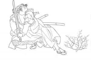 Самурай и цветок