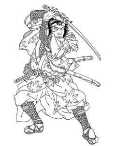 Самура с кинжалом в стойке