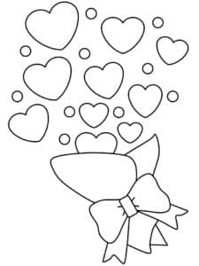 Сердечки и бабочка