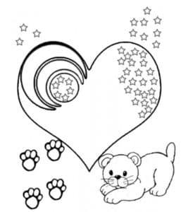 Сердечко и львенок