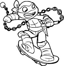 Черепашка ниндзя на скейтборде