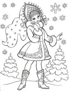 снегурочка и елки