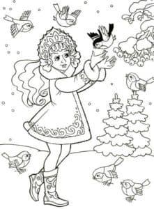 снегурочка и птички