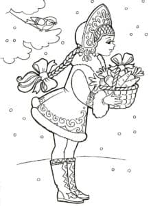 снегурочка с морковкой