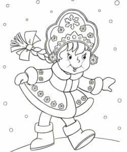 маленькая снегурочка раскраска