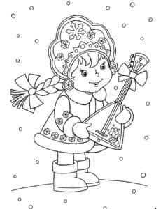 снегурочка с балалайкой