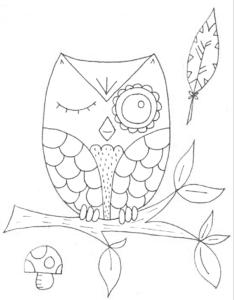 сова и мухомор