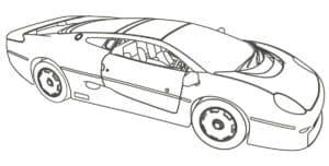 Раскраска Спорткар купе