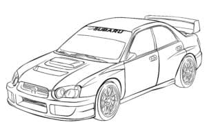 Субару гоночная машина