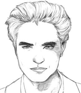 Эдвард раскраска из сумерек
