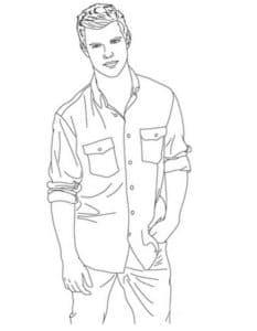Эдвард в рубашке