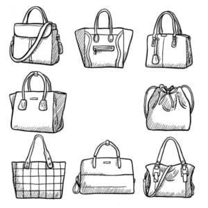 сумки женские раскраска