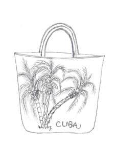 сумка женская с пальмами