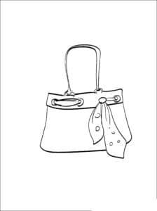 сумка женская с ленточкой