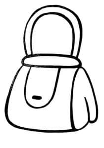 раскраска женская сумочка