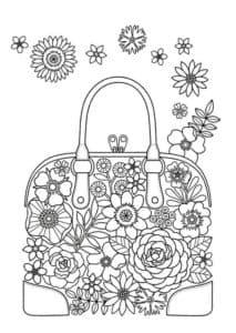 сумочка с цветами антистресс