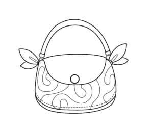 сумка с узорами раскраска детская