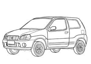 Машина Сузуки детская раскраска