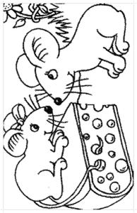 две мышки и сыр
