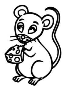 мышка с кусочком сыра