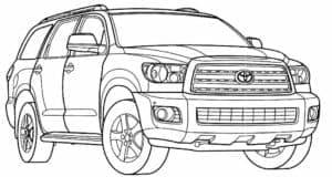 Тойота внедорожник раскраска детская