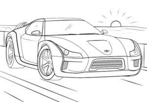 Тойота купе раскраска
