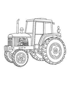 Трактор с большими колесами
