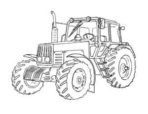 Трактор обычный с трубой