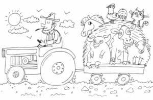 Тракторист и животные