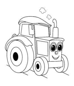 Трактор с большими глазами