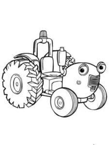 Трактор и глазами раскраска для мальчиков
