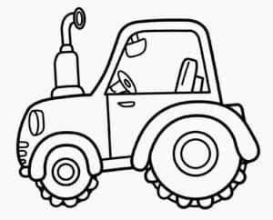 Трактор трафарет