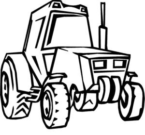 Раскраска детская трактор