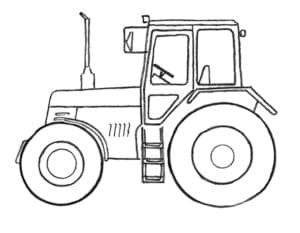 Трактор с лестницей