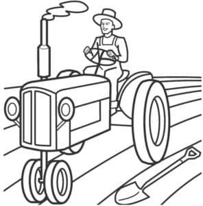 Трактор и лопата