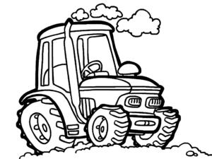 Трактор и дым из трубы