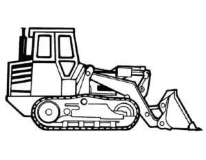 Трактор гусеничный с ковшом