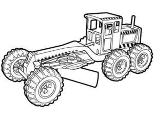 Длинный трактор