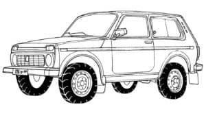 Автомобиль УАЗ двухдверный