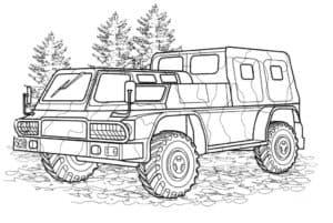УАЗ военный раскраска
