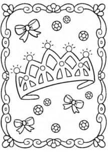 корона раскраска детская