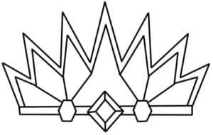 Корона с алмазом раскраска