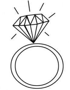 кольцо с огромным алмазом