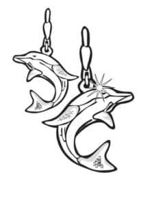 серьги дельфины